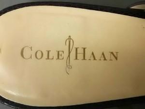 コールハーン COLE HAAN サンダル 6 1/2 レディース パープル 型押し加工 レザー【中古】