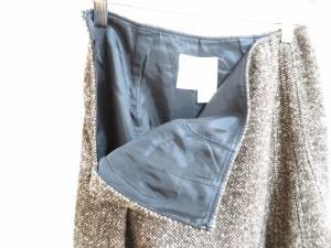 マックスマーラ Max Mara スカート サイズ38 S レディース ダークブラウン×アイボリー【中古】