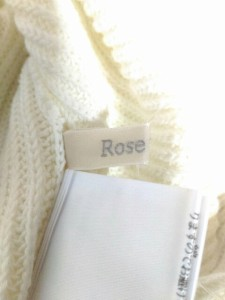 ローズティアラ Rose Tiara ノースリーブセーター レディース 美品 アイボリー【中古】