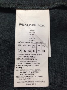 ペニーブラック PENNYBLACK ワンピース サイズ38 M レディース ダークグリーン【中古】