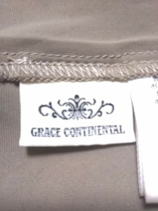 グレースコンチネンタル GRACE CONTINENTAL ワンピース サイズ38 M レディース 美品 ベージュ チュールレース【中古】