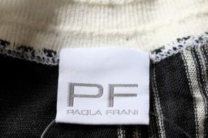 パオラ フラーニ PAOLA FRANI ワンピース サイズUSA6 M レディース 黒×ベージュ×マルチ ボーダー/ニット【中古】