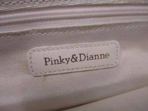 ピンキー&ダイアン Pinky&Dianne ショルダーバッグ アイボリー ジャガード×レザー【中古】