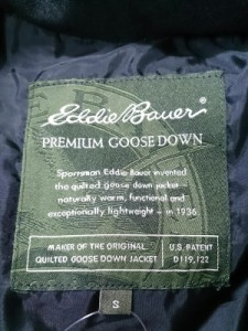 エディバウワー Eddie Bauer ダウンジャケット サイズS レディース ダークブラウン 冬物【中古】