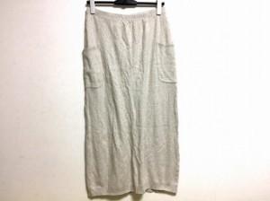 ダナキャラン DKNY ロングスカート サイズS レディース グレー スウェット地【中古】
