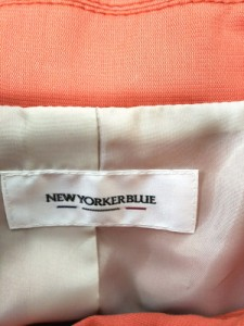 ニューヨーカー NEW YORKER ジャケット レディース レッド BLUE【中古】