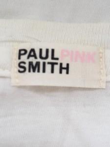 ポールスミス ピンク PaulSmith PINK 半袖Tシャツ レディース 美品 白×ピンク【中古】