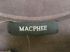 マカフィ MACPHEE 七分袖カットソー レディース 美品 パープル【中古】