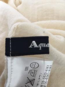 アクアスキュータム Aquascutum 長袖セーター レディース 美品 アイボリー タートルネック【中古】