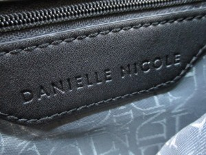 ダニエルニコル DANIELLE NICOLE ハンドバッグ レディース 黒×ダークグレー 合皮×ウール【中古】
