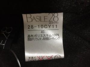 バジーレ BASILE ワンピース サイズ40 M レディース 美品 黒 ギャザー【中古】