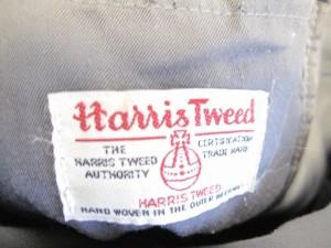 ハリスツイード Harris Tweed トートバッグ ダークグレー×黒×レッド ウール【中古】