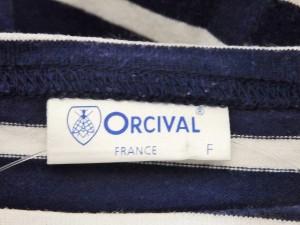 オーシバル ORCIVAL ワンピース サイズF レディース ダークネイビー×白 ボーダー【中古】