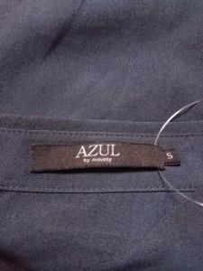 アズールバイマウジー AZUL by moussy ノースリーブシャツブラウス レディース 美品 ダークネイビー【中古】