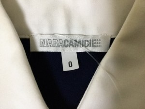 ナラカミーチェ NARACAMICIE 長袖シャツブラウス サイズ0 XS レディース ネイビー×白【中古】