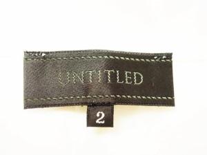 アンタイトル UNTITLED チュニック サイズ2 M レディース 美品 アイボリー×クリア ビジュー【中古】