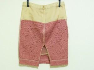 ヌメロ ヴェントゥーノ N゜21 スカート サイズ36 S レディース 美品 ピンク×ベージュ レース【中古】
