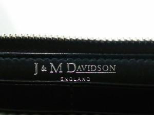 ジェイ&エムデヴィッドソン J&MDavidson 長財布 レディース エロンゲーテッド ジップウォレット 10069 ライトグレー レザー【中古】