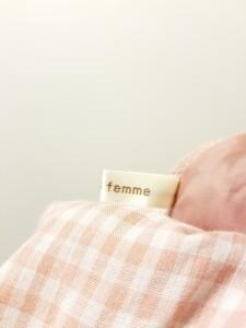 アクシーズファム axes femme スカート レディース 美品 ピンク×白 チェック柄【中古】