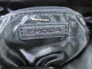 エモダ EMODA クラッチバッグ 黒 合皮【中古】