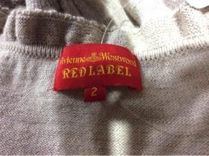 ヴィヴィアンウエストウッドレッドレーベル VivienneWestwoodRedLabel 長袖セーター サイズ2 M レディース ベージュ【中古】