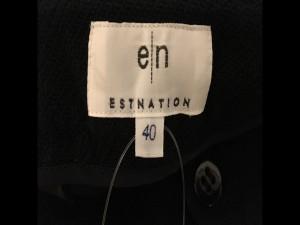 エストネーション ESTNATION パンツ サイズ40 M レディース 黒 七分丈【中古】