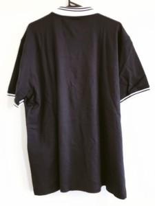カステルバジャックスポーツ CastelbajacSport 半袖ポロシャツ メンズ 美品 ネイビー×白 アニマル柄【中古】