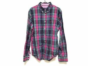 トミー TOMMY 長袖シャツ メンズ 美品 ピンク×パープル×マルチ チェック柄【中古】