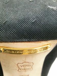 ダブルスタンダードクロージング ロングブーツ 36 1/2 レディース 黒 ニーハイ/アウトソール張替済 スエード【中古】