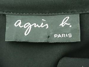アニエスベー agnes b 長袖シャツブラウス サイズ1 S レディース 美品 黒 シースルー【中古】