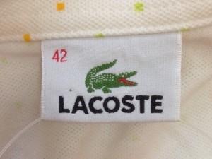 ラコステ Lacoste ノースリーブポロシャツ レディース アイボリー×マルチ ドット柄【中古】