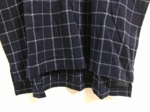 バーバリーゴルフ BURBERRYGOLF 半袖ポロシャツ サイズM メンズ ダークネイビー×ライトブルー×白 チェック柄【中古】