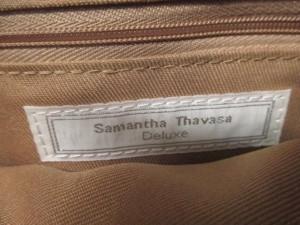 サマンサタバサデラックス Samantha Thavasa Deluxe ハンドバッグ レディース ライトブラウン 合皮【中古】