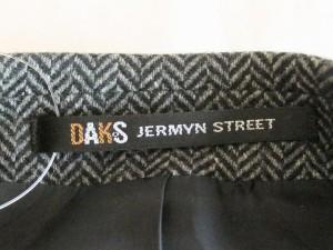 ダックス DAKS ジャケット サイズ48 XL メンズ 黒×グレー【中古】