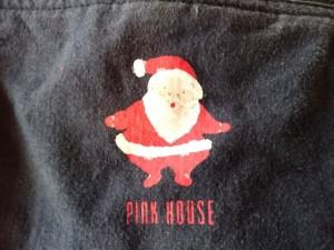 ピンクハウス PINK HOUSE カーディガン レディース 黒 肩パッド/サンタ【中古】