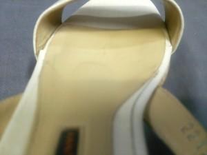 ペリーコ PELLICO サンダル 35 レディース アイボリー ウェッジソール レザー【中古】