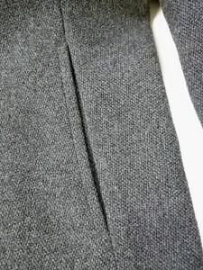 コムサイズム COMME CA ISM コート サイズ9 M レディース 美品 ダークグレー ショート丈/冬物【中古】