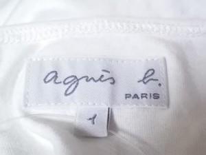 アニエスベー agnes b チュニック サイズ1 S レディース 白×レッド×マルチ フラワー【中古】