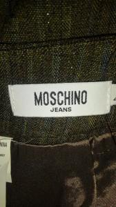 モスキーノ MOSCHINO スカート レディース 美品 カーキ ラメ/jeans【中古】