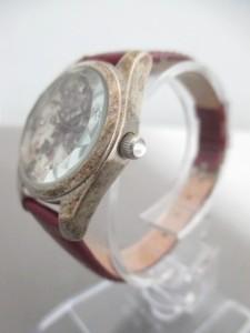 レストローズ L'EST ROSE 腕時計 - レディース 革ベルト 白×パープル×マルチ【中古】