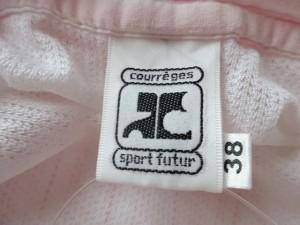 クレージュ COURREGES ブルゾン サイズ38 M レディース ピンク×白 SPORT FUTUR/ボーダー【中古】