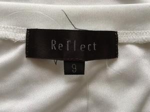 リフレクト ReFLEcT 半袖カットソー サイズ9 M レディース 白×黒×マルチ パネル切り替え/ロング丈【中古】
