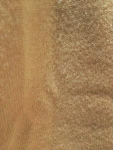 ニジュウサンク 23区 長袖セーター サイズ38 M レディース ベージュ×グレー×マルチ フリル/フェイクパール/ラインストーン【中古】