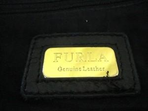 フルラ FURLA トートバッグ レディース 黒 レザー【中古】