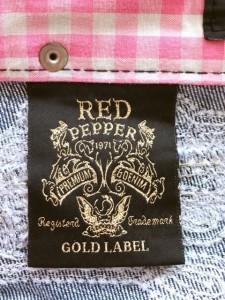 レッドペッパー RED PEPPER ジーンズ レディース ブルー×ライトブルー ダメージ加工【中古】