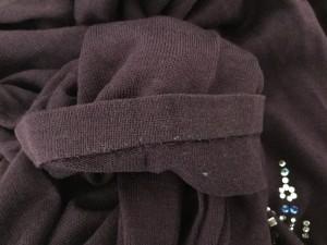 エルミダ EL MIDAS 長袖セーター サイズ13 L レディース ボルドー ビーズ/ラインストーン【中古】