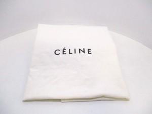 セリーヌ CELINE ショルダーバッグ レディース 美品 トライフォールド スモール レッド カーフスキン【中古】