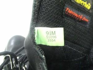 ティンバーランド Timberland ブーツ 9 1/2 メンズ 黒 レザー【中古】