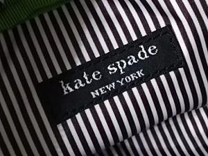 ケイトスペード Kate spade ポーチ レディース グリーン×白 ドット柄 ビニール×レザー【中古】