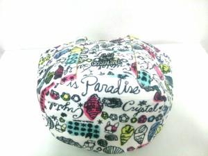 クリスタルボール CRYSTAL BALL トートバッグ M レディース 白×マルチ パイル【中古】